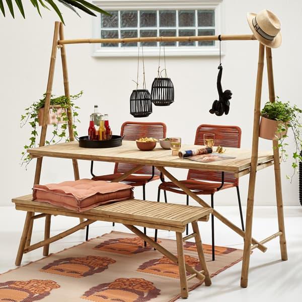 Garden-furniture-Bamboo-table-set
